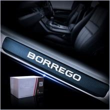 Для Kia Borrego углеродного волокна наклейка двери автомобиля Шаг пластины двери автомобиля порог дверь порог пластины автомобильные аксессуары для укладки 4 шт.