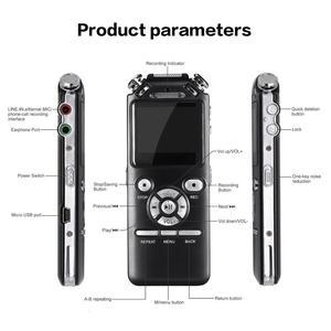 Image 5 - Dyktafon cyfrowy podwójne mikrofony inteligentna redukcja szumów rejestrator dźwięku USB akumulator 8GB pamięci Mp3 WMV