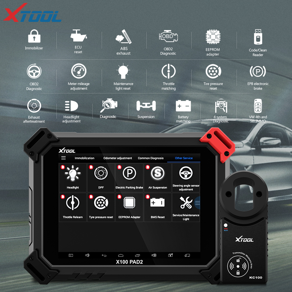 X100 PAD2 OBD2 Diagnostic Tool with 4th and 5th Immo auto Key programmer All Special functions