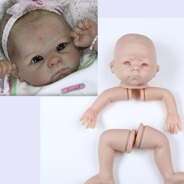 hot sale Silicone Reborn Baby Doll Kit Accessories DIY Vinyl Baby Doll Mold Lifelike Handmade Doll Kit for kid gift for children
