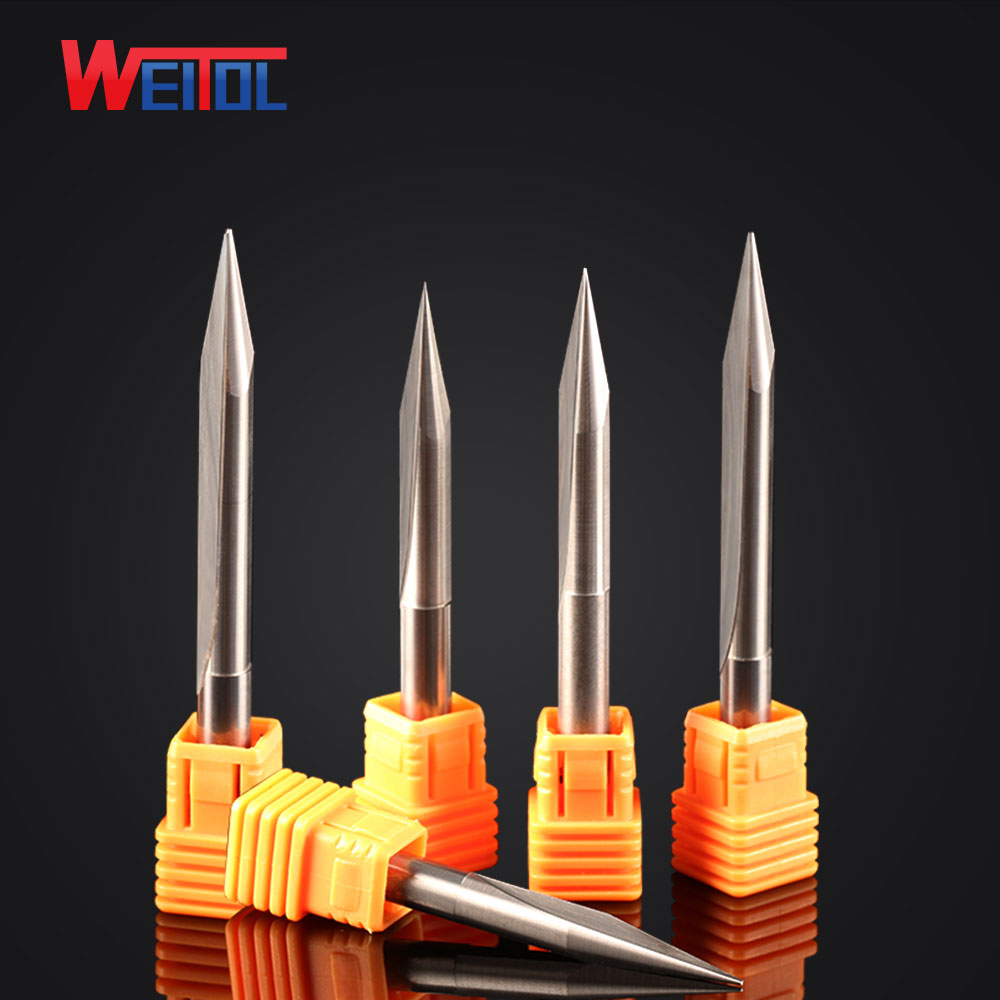 Weito5A 1 pcs 8/10/12mm  Single Flute Bit Carbide End Mill Set, CNC Router End Mills for Acrylic cutting bit 3 175 12 0 5 40l one flute spiral taper cutter cnc engraving tools one flute spiral bit taper bits