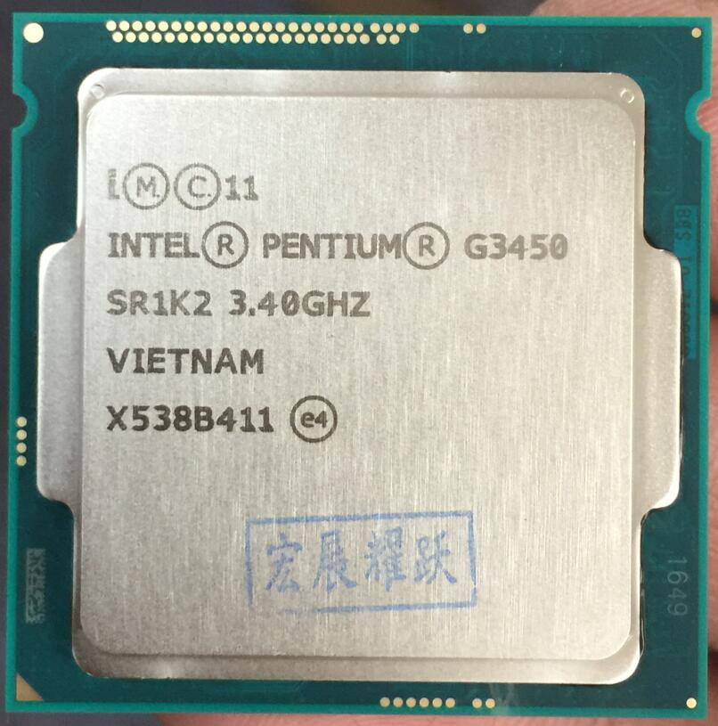Intel Processor  G3450 CPU  LGA1150  22 Nanometers  Dual-Core  100% Working Properly Desktop Processor