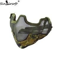 Hunting Accessories Half Face Metal Net Mesh Protect Mask V2 Strike Metal Mesh Half Face Mask