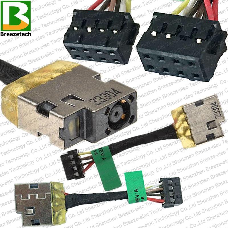 5PCS / lot Notebook Original Prise d'alimentation CC pour ordinateur portable Connecteur de câble pour HP 14-N 15-N000 15-N100 15-N100 15-N200 15-n010us 730932-SD1