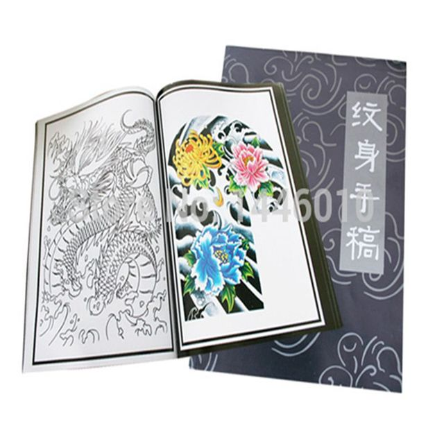 Crazy 2016 New Arrival Tattoo Book Chinese Traditional Tattoo Designs Flash Book For Tattoo Art Supplies A4 Size Free Shipping
