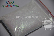 TCR03 0.05mm 002 Rainbow White with Red Light  Color holographic Glitter powder  luster  for nail,tatto art decoration dust