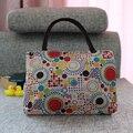 Alta capacidad de dos grandes bolsillos bolsos de mujer de mensajería del envío del regalo presente