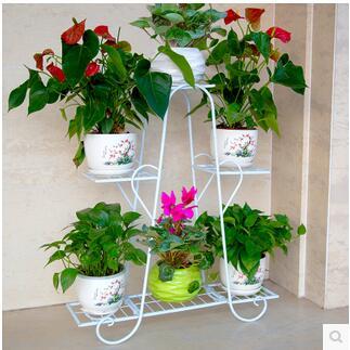 Многослойные полки Ou Ши, кованого железа Балкон наземные гостиная жардиньерка земли эффектный цветок больше, чем другие мяса