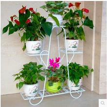 Multilayer shelf ou shi, wrought iron balcony ground sitting room jardiniere showy flower more than other meat