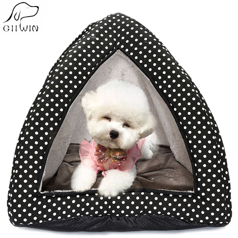 Pet House Dog Cat Bed Soft Kennel For Small Medium Dogs Cats Winter Keep Warm House