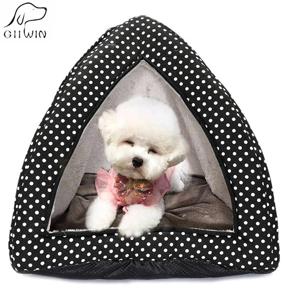 Animal domestique chien chat lit doux chenil pour petit moyen chiens chats hiver garder au chaud maison démontage respirant chien chat lit PY0176
