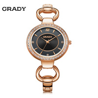 New GRADY Fashion Women Bracelet Watch Gold Quartz Gift Watch Wristwatch Women Dress Casual Bracelet Watches