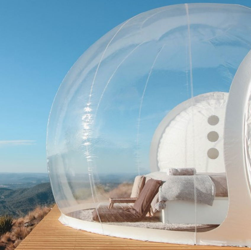 Bulle gonflable tente jouet tente Camping en plein Air bricolage maison dôme Camping Lodge bulle d'air