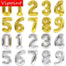 VIPOINT PARTY 40inch gold silver number foil balloons wedding event christmas halloween festival birthday party HY-54