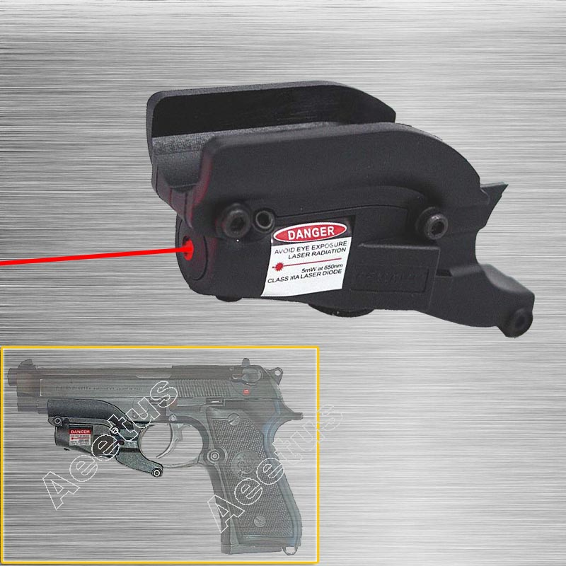 Red Laser Sight Device For M92 With Lateral Grooves For Beretta Model 92 96 M9
