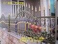 Стальное ограждение из кованого железа  оцинкованные металлические ограждения  дешевые ограждения для пикета  ограждения для двора  дома  с...