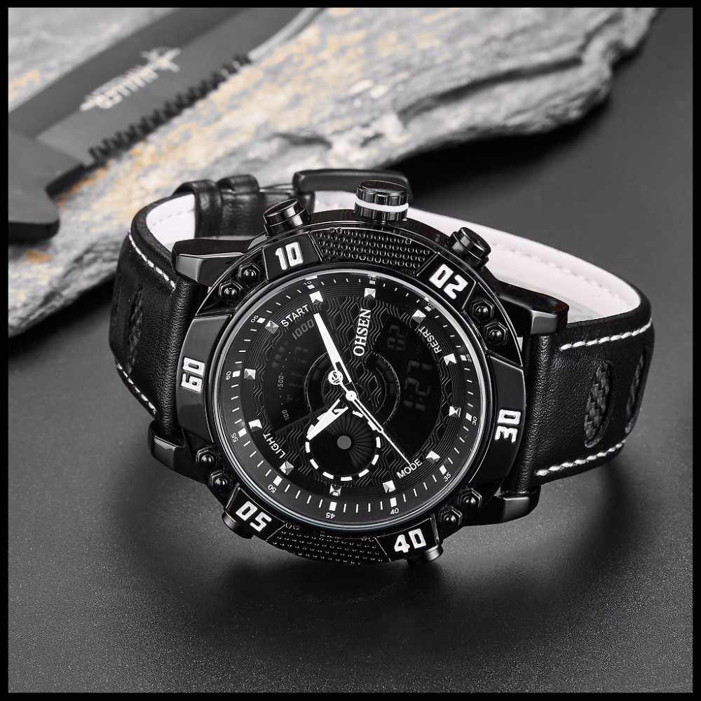 OHSEN Brand Mens Fashion Casual Reloj Quartz Watch Digital LED Relogios Military Relogio Masculino Diving Waterproof Men Watches (25)
