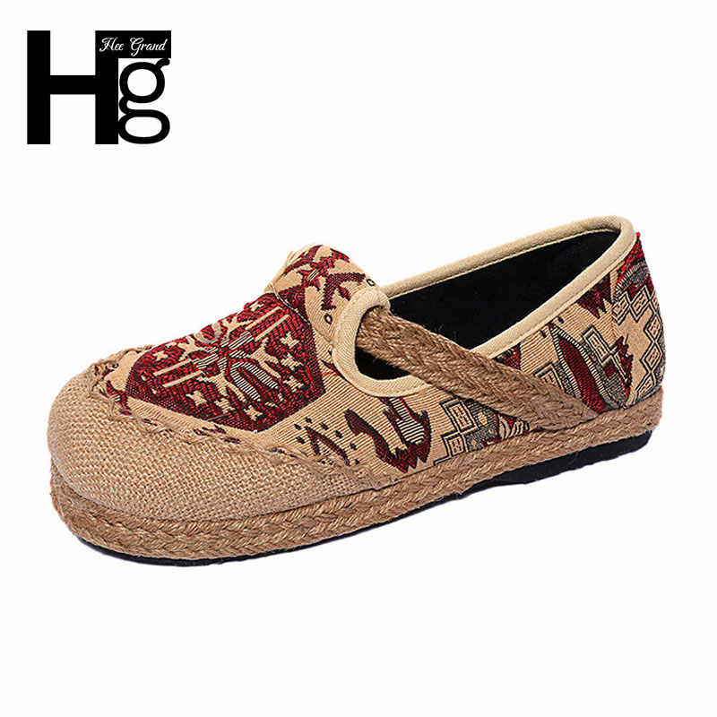 HEE GRAND Beijing Style Shoes Woman Folk Custom Spring Cultural Women Single Shoes Size 35-40 XWD5279
