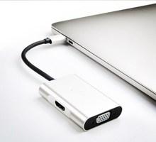 Адаптер для ноутбука A20VH HDMI 4 K HD type-c адаптер для HDMI/VGA DK