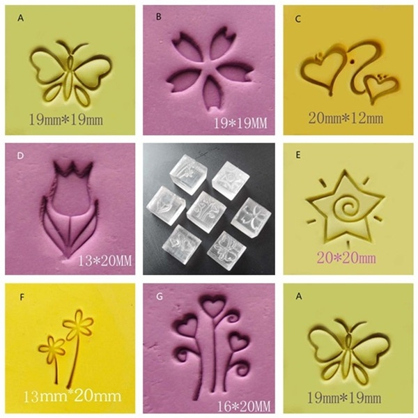DIY Craft Soap Stamp Homemade Tools DIY Sugarcarft Candy Candle Stamp Soap Making Kits