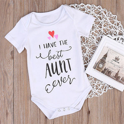 Newborn Toddler Baby Boys Girls Clothing Best Aunt