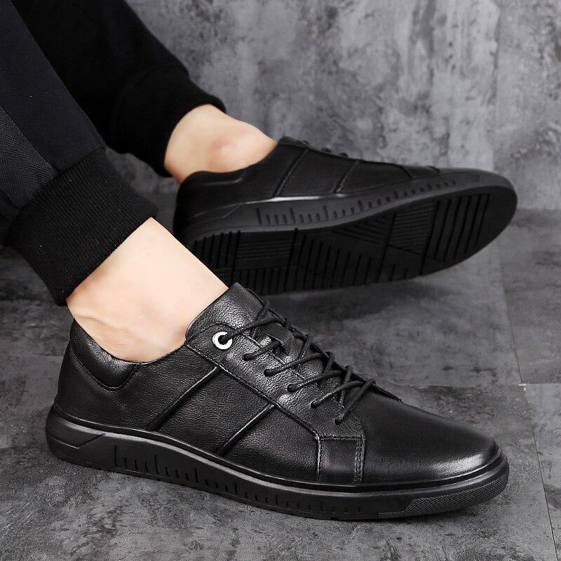 Homme en cuir véritable chaussures décontractées pour hommes en plein air à lacets oxfords chaussures été automne baskets appartements respirant Ferrary chaussures L4