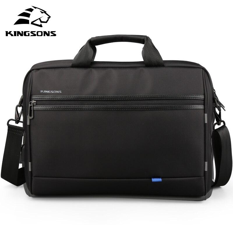 Kingsons Men Laptop Messenge bag 15 6 inch travel Shoulder Bags Crossbody Handbag Black bolsa masculina