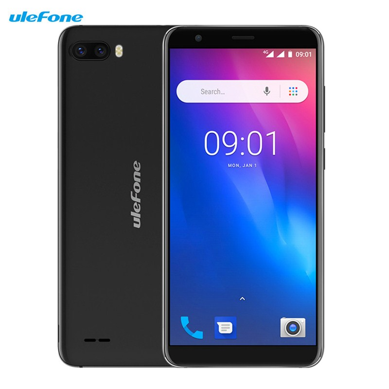 Ulefone S1 Pro 4G Smartphone 5.5 inch Android 8.1 MT6739WA 1.3GHz 1GB RAM 16GB ROM 13.0MP+5.0MP Face ID 3000mAh Mobile Cellphone