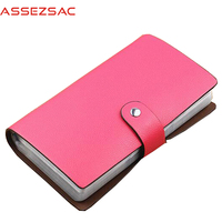 Assez Sac 96 Cards Women Credit Card Holders Pu Leather Bags High Quality Business ID Holder