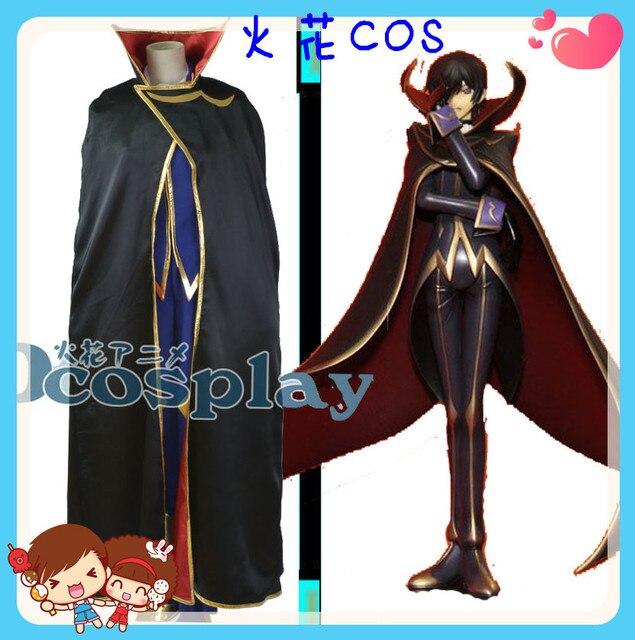 Code Geass Zero Lelouch Lamperouge Cosplay Costume Halloween Uniform Outfit  Cloak+Shirt+Pants+
