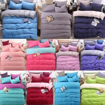 Rote Bettdecken Königin | Einfache 4 Stück Einfarbig Twin/Full/Königin/King Size Bett Steppdecke/Duvet/Doona Abdeckung Set & Blatt Sham Blau Grau Rosa Grün Lila Rotwein