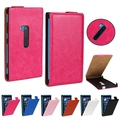 Vertical Type Crazy Horse PU Imitation Leather Cover With Plastic Case Support Flip Cover For Microsoft Nokia Lumia 920
