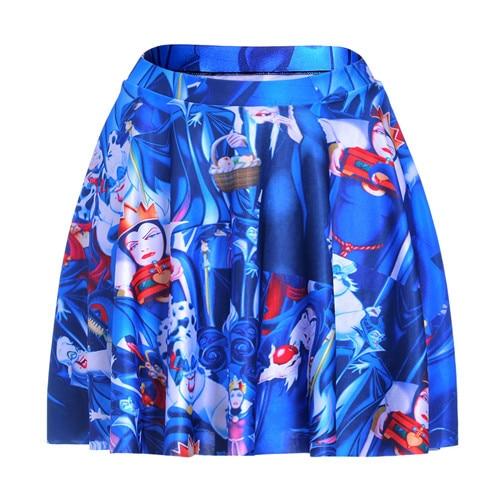 0fe614238f9 1149 Summer Women Plus Size Pleated Mini Skater Skirt Sexy Girl Cheerleader  TuTu Skirt Snow White poisoned apple witch Prints