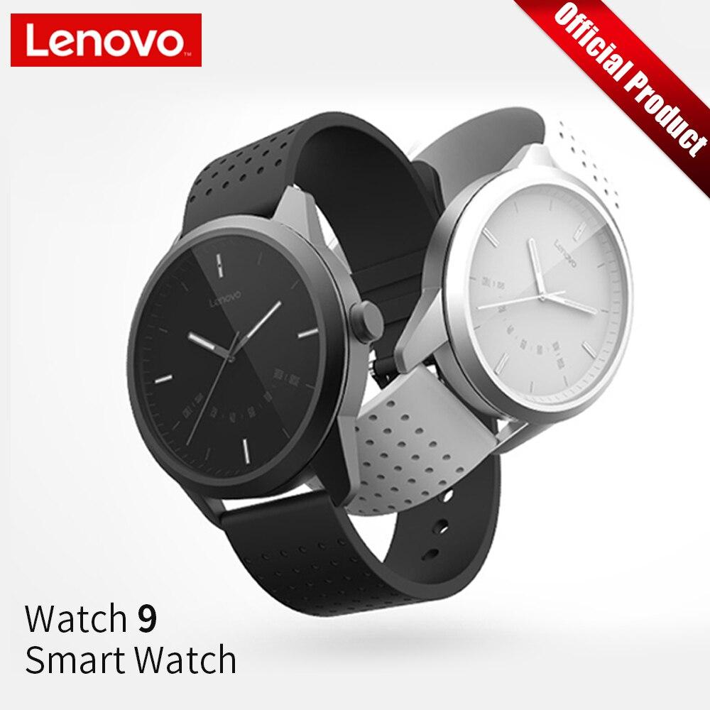 Lenovo Smartwatch Relógio Inteligente Moda Sapphire Vidro de Relógio 9 50M Chamadas Informações Lembrando de Monitorização da Frequência Cardíaca À Prova D' Água