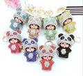 Nueva Monchichi Lindo Colorido del Estilo de la Panda Llavero Romántico Colgante Para El Bolso Monedero Del Bolso Del Morral Encantos Gran Regalo del Amante