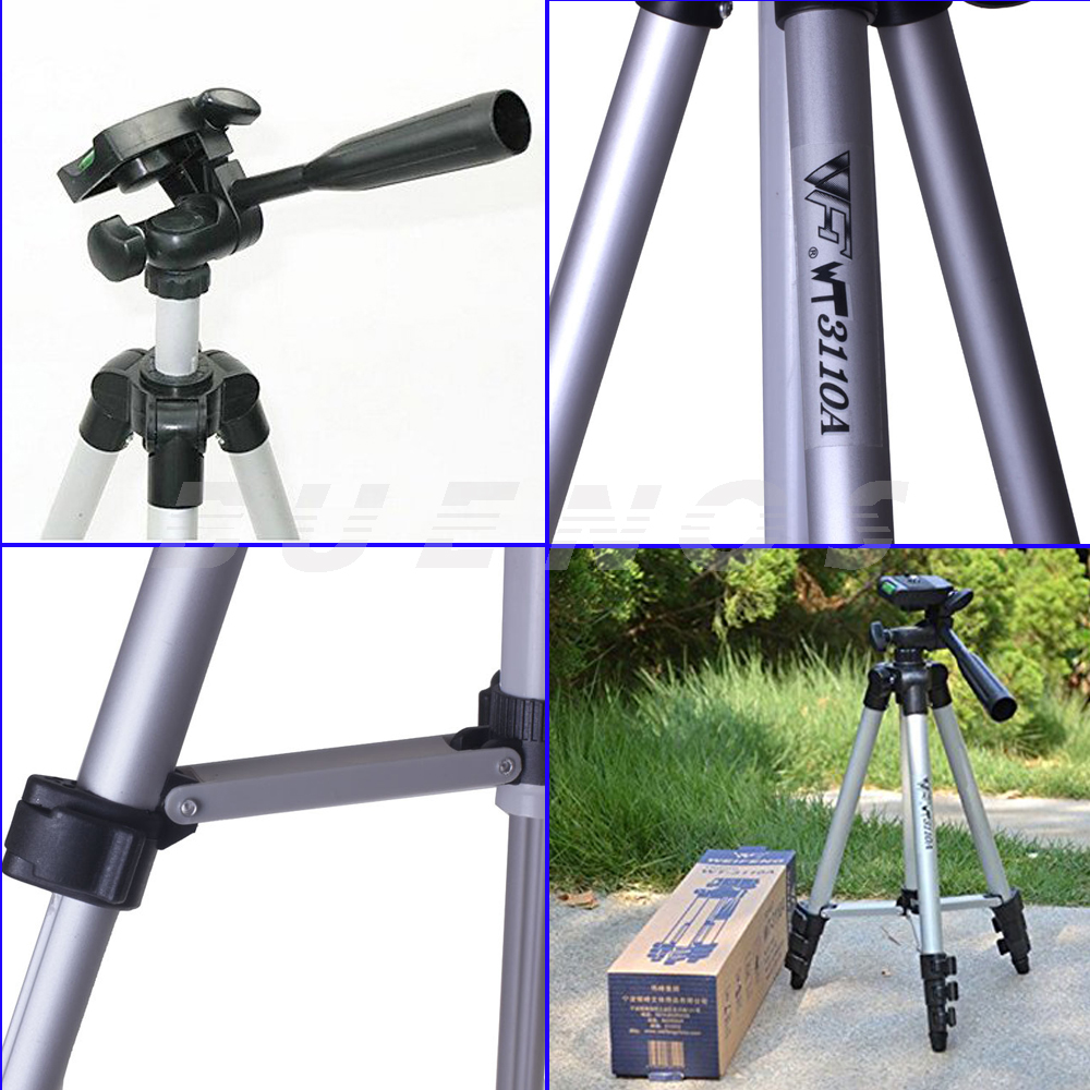 Portable Universal Aluminum Tripod With 3way Wt 3110a For Dslr Canon Weifeng Stand 4 Section Aluminium Legs Brace Smartphone Kamera Handycam Nikon Sony Pantex Fuji Samsung Panasonic Digital Camera 19 In Tripods From Consumer
