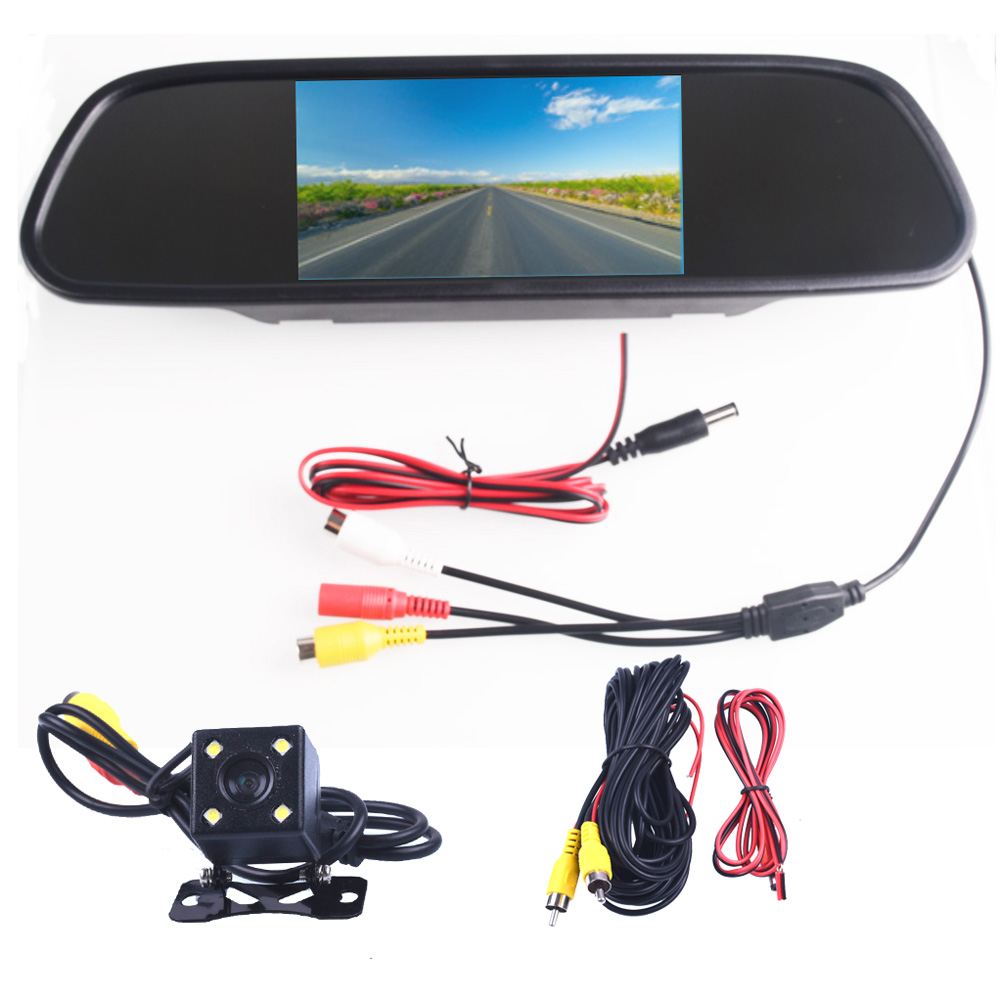 5.0 5.0 Inch CCD HD Waterproof Parking Monitor Car Rear View Monitor Video DVD Player Car Audio Auto For Car Reverse Camera 4 3 4 3 inch tft lcd color car rear view mirror monitor video dvd player car audio auto for car reverse camera