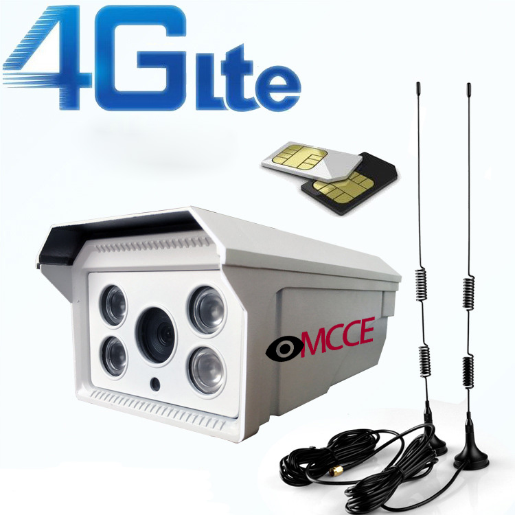 High Quality 3g 4g Sim Card P2p Ip Camera Wireless Network
