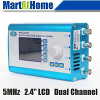 Free Shipping 5MHz Arbitrary Waveform Dual Channel DDS Function Signal Generator Sweep W 2 4 LCD