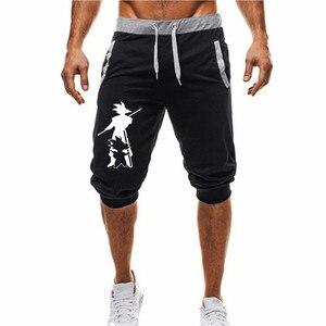 Image 2 - Pantalones cortos de Dragon Ball para hombre, Shorts informales de dibujos animados de Anime japonés, ropa de Wukong, novedad de 2019