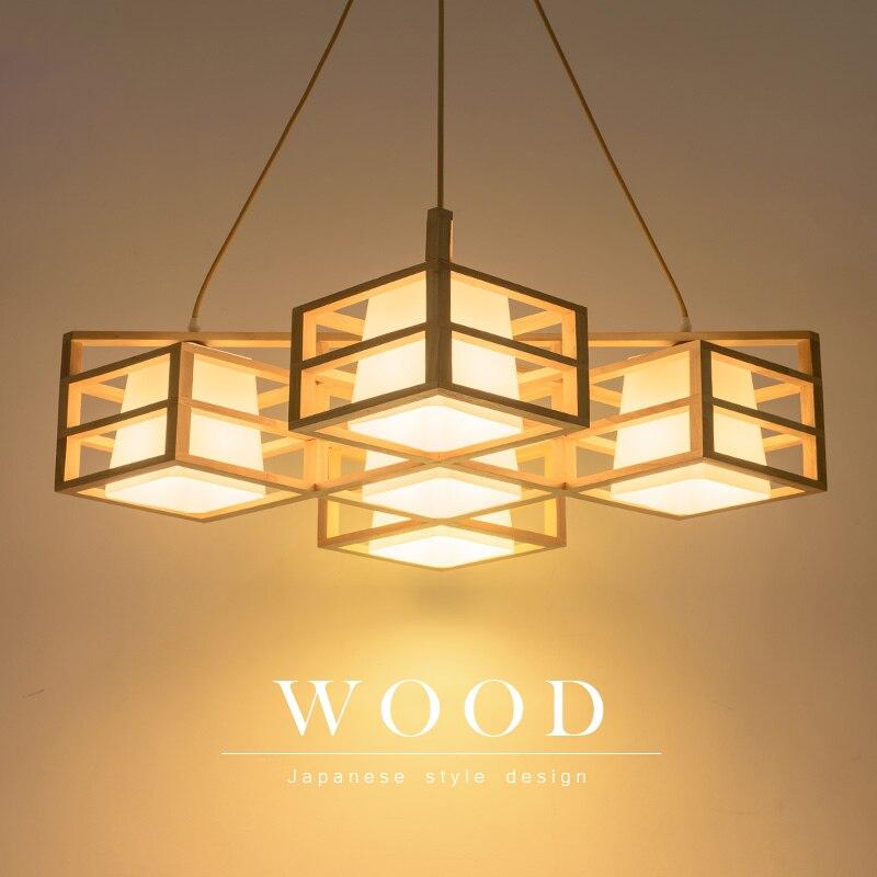Horsten Anese Style Solid Wood Pendant Light Nordic Creative Wooden Lamp For Bedroom Living Room Restaurant Lighting In Lights From