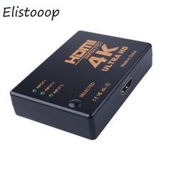 Elistooop 4K*2K  HDMI Switch 3 Port Switcher Splitter Box Ultra HD for DVD HDTV Xbox PS3 PS4