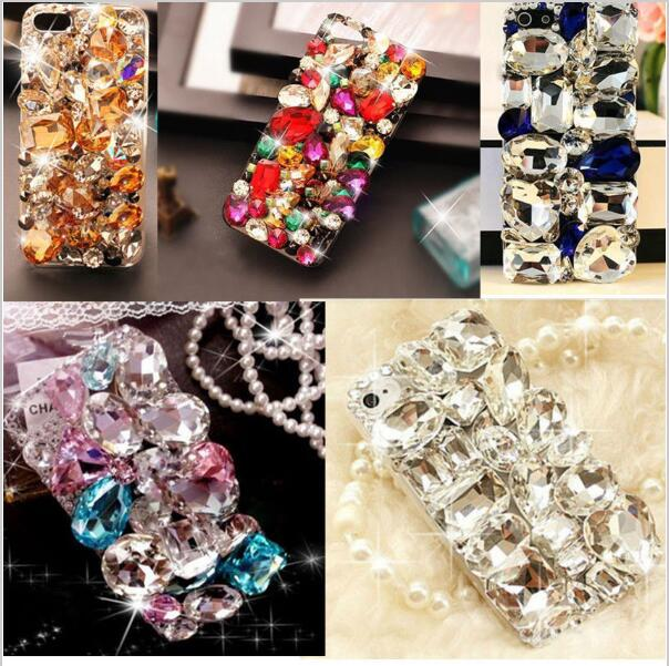 imágenes para Xingduo lujo 3d bling diamante de cristal duro volver case cubierta para huawei p8 lite case/huawei p9 lite y para xiaomi redmi 4 pro