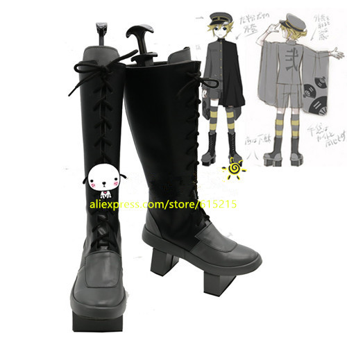 VOCALOID 2 Kagamine Len senbonzakura cosplay Shoes Boots Custom Made