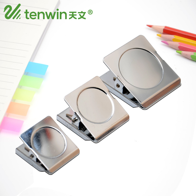 2 Pcs/lot 45mm Stainless Steel Metal Clamps Magnetic Paper Clips Paperclips Binder Clip Photo Holder Office Supplies