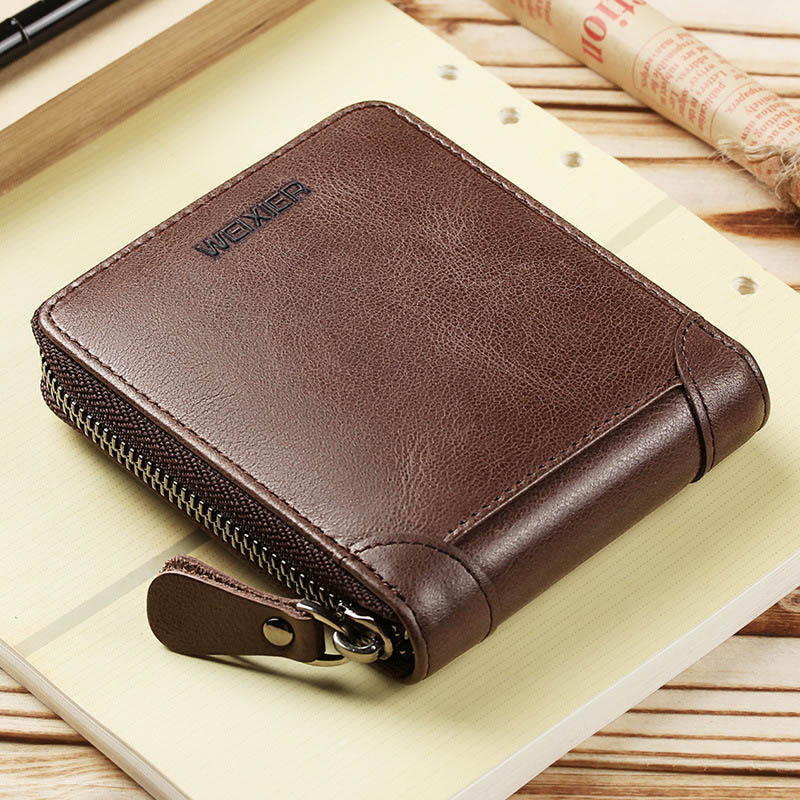 2019 Vintage Men Wallet PU Leather Brand Luxury Wallet Short Slim Male Purses Wallet Money Bag Credit Card Holder Male Clutch
