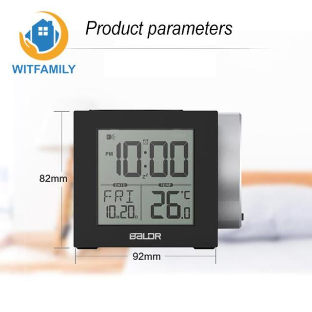 Aliexpress.com : Buy Electronic watch LED thermometer projection ...