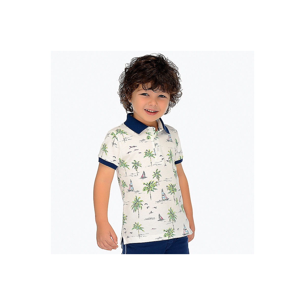 T-Shirts MAYORAL 10681381 Children sClothing T-shirt with short sleeves polo shirt for boys and girls girls lace trim contrast ruffle hem striped t shirt