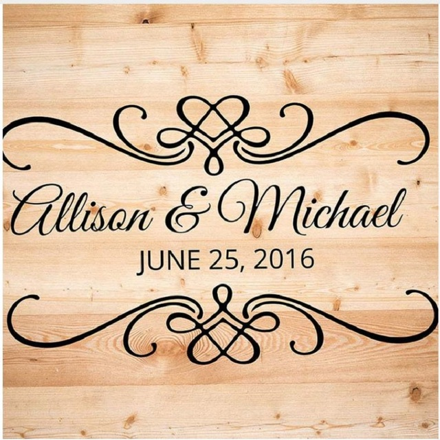 Us 8 89 Romantic Wedding Ceremony Personalized Date Lettering Wall Stickers Custom Name Love Quotes Vinyl Wall Decals Home Decor In Wall Stickers