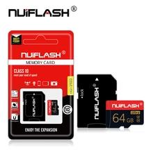 بطاقة ذاكرة بسعة كبيرة 128GB 64GB 32GB بطاقة فلاش 16GB 8GB microSDXC/SDHC فئة 10 بطاقات TF صغيرة عبر فلاش بطاقة sd الصغيرة